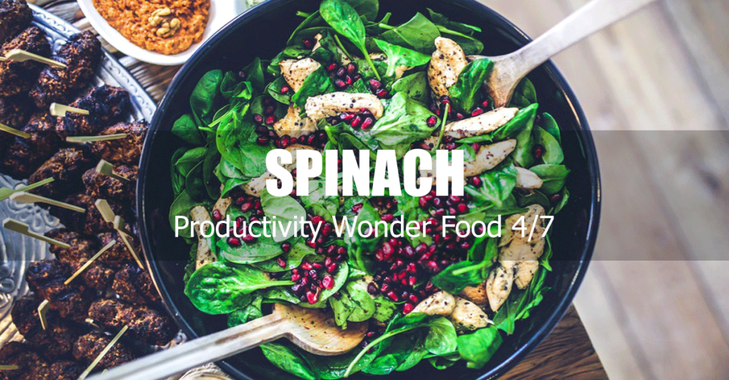 productivity increasing food spinach